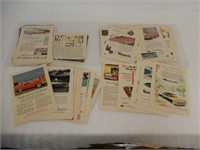 GROUPING OF 1950'S CAR COLLECTOR PAPER ADVERTISING