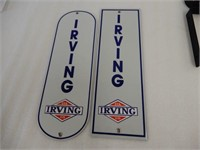 GROUP OF 4 IRVING OIL ALUMINUM SIGNS - NEW