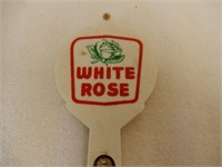 WHITE ROSE PLASTIC ADVERTISING THERMOMETER