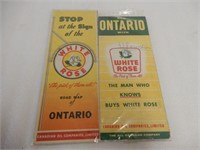 LOT OF 4 WHITE ROSE ROAD MAPS