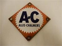 A-C  ALLIS CHALMERS PORC. SIGN