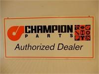 CHAMPION PARTS  DEALER S/S CARDBOARD SIGN