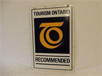 TOURISM ONTARIO RECOMMENDED D/S PAINTED METAL SIGN
