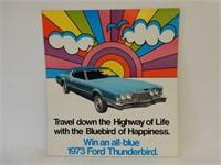 1973 WIN A  FORD THUNDERBIRD CARDBOARD ADVERTISING