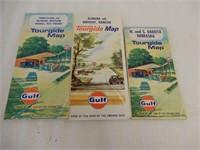 LOT OF 10 GULF U.S.A. TOURING MAPS +