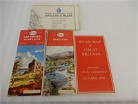 LOT OF 4 GREAT BRITAIN ROAD MAPS