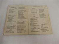 RARE EARLY CANADA STEAMSHIP LINES SONG BOOK