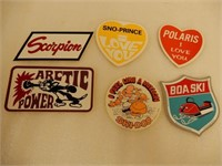 LOT OF 6 VARIOUS SNOWMOBILE DECALS