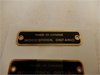 GROUPING OF 3 MADE IN CANADA WOOSTOCK, ONT. PLATES