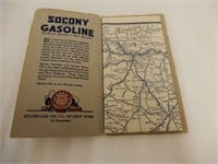 """STANDARD OIL """"MARKED AUTO TRAILS IN NEW YORK"""" MAP"""