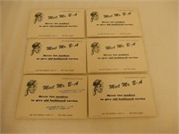 LOT OF 6 MEET MR B-A  EARLY TOURING CAR PROMOTIONS