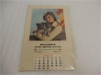 1979 MACLEOD'S IRVING SERVICE STATION CALENDAR