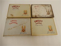 LOT OF 4 SWEET CAPORAL CIGARETTES FLAT 50'S