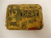J.G. DILL'S BEST CUT PLUG TOBACCO TIN