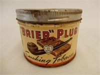 BRIER PLUG SMOKING TOBACCO 1/2 POUND CAN