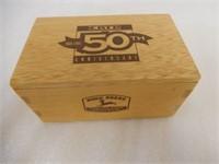 ERTL 50TH ANN. JOHN DEERE MODEL A TRACTOR/ BOX