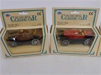 SET OF 4 CLASSIC CAR REPLICA MODELS  / BOXES