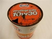 GULF MULTIGRADE LITRE MOTOR OIL FIBRE CAN