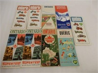 LOT OF 10 CANADIAN OIL COMPANY MAPS