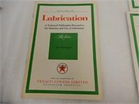 TEXACO CANADA LUBRICATION BOOKLETS