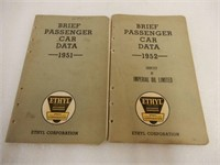 LOT OF 10 ETHYL CORPORATION  CAR DATA  BOOKLETS