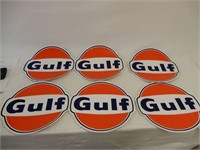 LOT OF 6 GULF DECALS