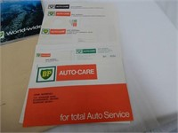 LOT OF BP BOOKS & BOOKLETS  & 1970 CAR CARE GUIDE
