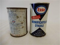 LOT OF 2 ESSO CAR CLEANER PRODUCT CANS