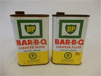 LOT OF 2 BP BAR-B-Q LIGHTER FLUID 32 OZ. CANS