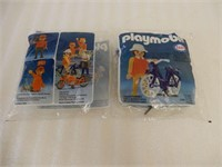 LOT OF 2 ESSO PLAYMOBIL SERVICE STATION FIGURES