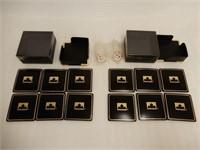 LOT OF 2 PETROCANADA COASTERS & KEY CHAINS/ BOX'S