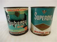 LOT OF 2 CANADIAN TIRE SUPEROYL IMP. GAL. CANS