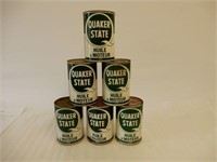 LOT OF 6 QUAKER STATE MOTOR OIL LITRE CANS
