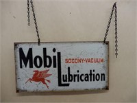 MOBILUBRICATION 2 SIGNS BACK TO BACK/ CHAIN HANGER
