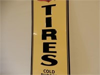 PHILLIPS 66 TIRES S/S PAINTED METAL EMBOSSED SIGN