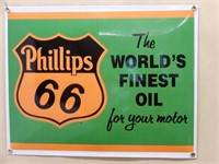 PHILLIPS 66 MOTOR OIL SSP CONVEX SIGN - NEW