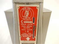 1950'S WISE OWL COIN OPERATED IQ NAPKIN DISPENSER