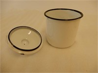 GROUPING OF 2 ENAMEL HOLDERS