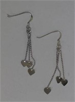 STERLING SILVER (APPROX 2G) HEART SHAPED DANGLING