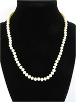 STERLING SILVER GENUINE FREASHWATER PEARL NECKLACE