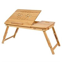 HOMFA BAMBOO LAPTOP TABLE STAND