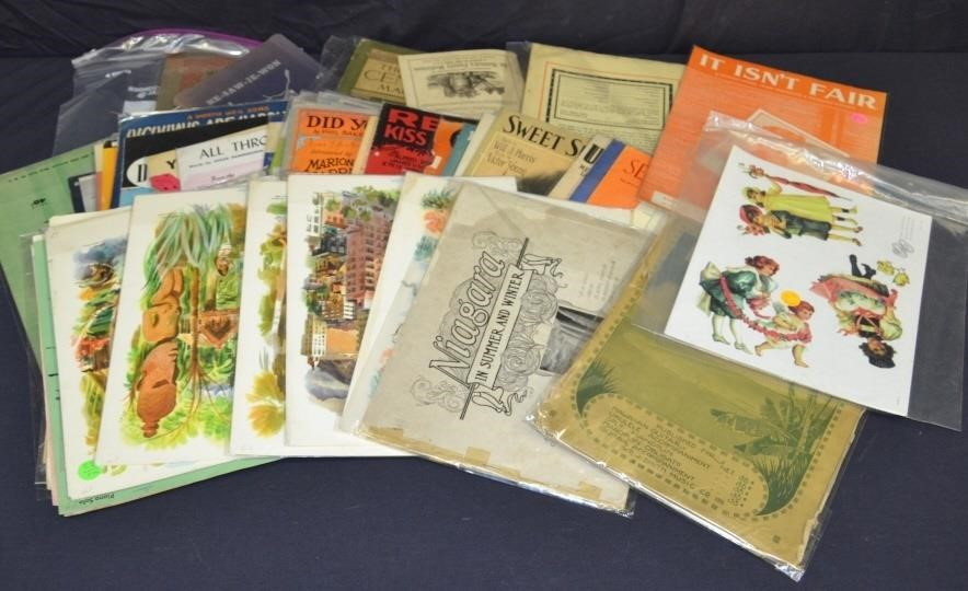 Lot Sheet Music, Advertising & Other Paper Items | Ridge