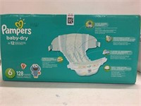 PAMPERS BABY DRY 128 PIECE SIZE 35+ LBS
