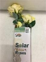 SOLAR YELLOW ROSES LED LIGHTS