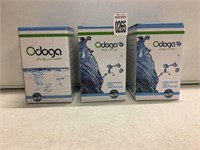 SET OF 3 ODOGA CLEARLY PURE WATER FILTER