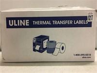 ULINE THERMAL TRANSFER LABEL 4X6