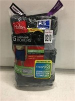 HANES 5 PACK BOXER LARGE