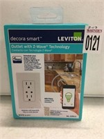 LEVITON DECORA SMART OUTLET WITH Z WAVE