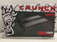CRUNCH 2000 4-CHANNEL WATTS AMPLIFIER