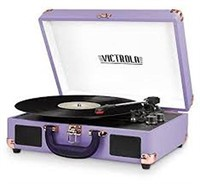VICTROLA PORTABLE BLUETOOTH TURNTABLE